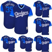 Customized Los Angeles Dodgers Players Weekend Nickname Jersey Blue M-3xl
