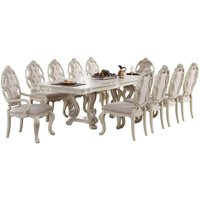 soflex-classic-rivier-antique-white-rectangular-dining-table-traditional