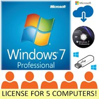 5pc-windows-7-pro-professional-microsoft-oem-license-key-upgrade-computer-64bit