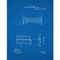 Spiral Spring Patent Print - Blueprint