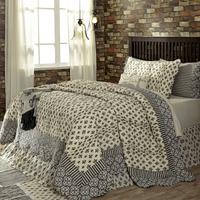 6-pc-king-elysee-quilt-country-set-black-grey-creme-fleur-de-lis-vhc