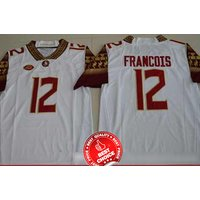 12 Deondre Francois - Florida State Seminoles Football Stitched Jersey #white