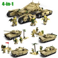 SA set 4 small tanks Kazi 2017 4 In 1 minifigure blocks lego Toy model
