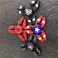 Captain America Fidget Spinner Superman Fidget Spinner Iron Man Tri Spinner ADHD