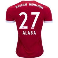 All New David Alaba #27 Bayern Munchen Home 2017-2018 Men Soccer Jersey