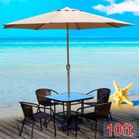 10ft-aluminum-outdoor-patio-umbrella-tan-sunshade-market-garden-cafe-crank-tilt