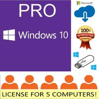 5pc-windows-10-pro-professional-microsoft-oem-license-key-upgrade-computer-64bit