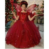 snow-queen-elsa-dress-children-kids-cosplay-costume-red-hood-girl-party-princess