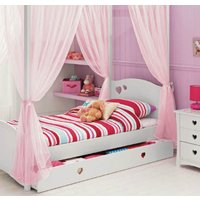 kids-girls-bed-canopy-curtains-fourposter-drape-set-white-cream-pink-lilac-voile