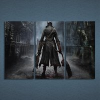 3 Pcs Game Bloodborne PS4 Wall Art Pictures Home Decor Printed Canvas Painting
