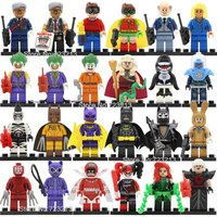 SA set B 24pcs/lot Batman Figure DC villain minifigure blocks lego Bricks Toys