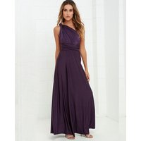 Long Purple Bridesmaid Infinity Dress Convertible Wrap Multi way Maxi Party DS2