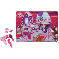 My Little Pony Toy Hair Salon Game Rug Set 31.5'' x 44'' Hairdryer Comb Mirror