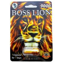 100% GENUINE BOSS LION 9000 PREMIUM PILL BEST Male Sex Performance Enhance+GIFT