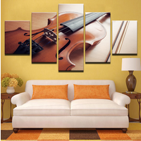 5 Pieces Violin Musical Instruments Canvas Prints Painting Wall Art Home Décor