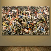 1 Pcs Number 1a 1948 Jackson Pollock Wall Picture Canvas Painting 24x40inch