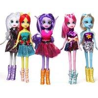 My Little Pony Equestria Girls Doll Twilight Sparkle Dash Rarity Fluttershy 5pcs