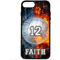 PERSONALIZED NUMBER NAME VOLLEYBALL PHONE CASE COVER FOR IPHONE X 8 7 6S 6 SE 5S