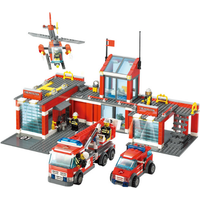City Fire Station Command Center Building Block Sets Model 774 pcs Fit Lego