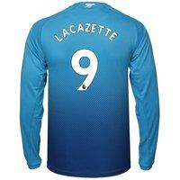 Alexandre Lacazette #9 Arsenal 2017/18 Away Men Long Sleeve Jersey