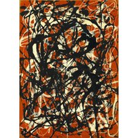 The Museum Outlet - Jackson Pollock - Free Form (Framed, 16x20 Inch)