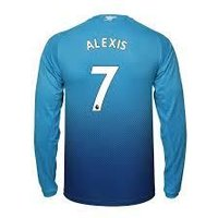 Alexis Sanchez #7 Arsenal 2017/18 Away Men Long Sleeve Jersey