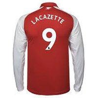 Alexandre Lacazette #9 Arsenal 2017/18 Home Men Long Sleeve Jersey