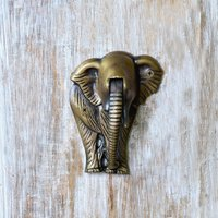 casa-decor-antique-elephant-shape-metal-door-knocker