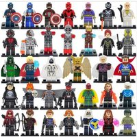 34 Marvel DC Figure set Justice League Avengers Minifigure Lego Block AB 5
