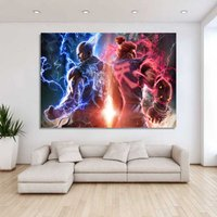 1 Pcs Game Tekken 7 Heihachi Wall Picture Home Decor Printed Canvas Painting