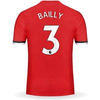 New Eric BAILLY #3 Manchester United Home 17/18 Men Soccer Jersey + EPL Patches