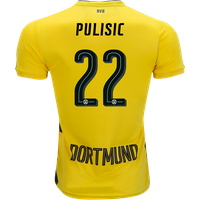 All New Christian Pulisic #22 Borussia Dortmund Home 2017-2018 Men Soccer Jersey