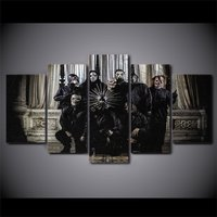 5 Pcs Slipknot Nu Metal Home Decor Wall Picture Printed Canvas Painting
