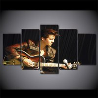 5 Pcs Elvis Presley Singer Home Decor Wall Picture Printed Canvas Painting