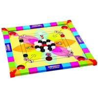 Kids Carrom Board Game Wooden + acrylic Coins & Striker carromboard combo large