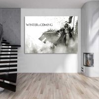1 Pcs Game Of Thrones Winter is Coming Wall Picture Home Decor Canvas Painting