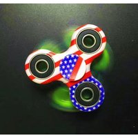100 PACK AMERICAN FLAG Fidget Spinner 4TH OF JULY, 2017 high quality, low price!