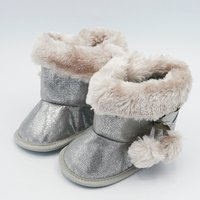 Newborn Silver Soft Boots Winter Baby Girls Boys Toddler Shoes Boots G157