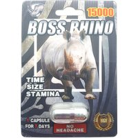 Boss Rhino 15000 - NEW Sexual Male Enhancement Pill - Super Strength - 5 Pack
