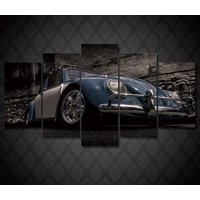 5 Pcs Volkswagen Beetle Car Home Decor Wall Picture Printed Canvas Painting
