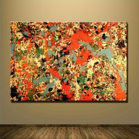 1 Pcs The She-wolf Jackson Pollock Wall Picture Canvas Painting 24x36inch
