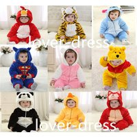 Baby Boys girls Animal Costume Thick Bodysuit Outfit Romper Toddler Jumpsuit