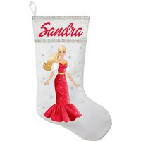 Barbie Christmas Stocking - Personalized and Hand Made Barbie Christmas Stocking
