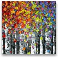 Birch Tree PRINT Aspen Art Abstract Canvas Wall Art Aspen landscape Square 36x36