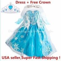 kids-girls-dress-frozen-elsa-anna-party-costume-princess-free-crown-2-10y