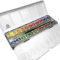Royal Talens - Rembrandt Professional Water Colour - Metal Box of 24 Pans with S