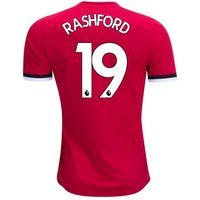 New RASHFORD #19 Manchester United Home 17/18 Men Soccer Jersey + EPL Patches