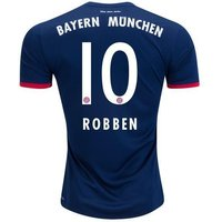 All New Arjen Robben #10 Bayern Munchen Away 2017-2018 Men Soccer Jersey