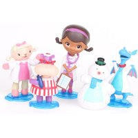 5 pcs Doc McStuffins Stuffy Lambie Hallie Chilly Figure Cake Topper Play Set Toy