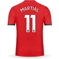 New MARTIAL #11 Manchester United Home 17/18 Men Soccer Jersey + EPL Patches